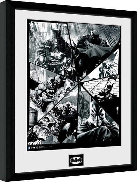 Zarámovaný plakát Batman Comic - Collage