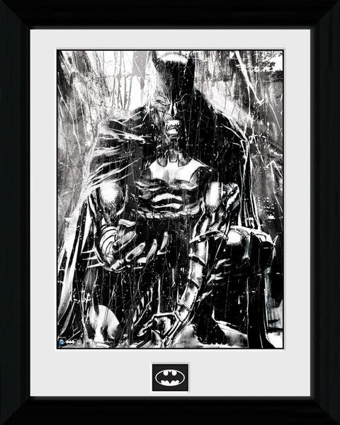 Zarámovaný plakát Batman Comic - Rain
