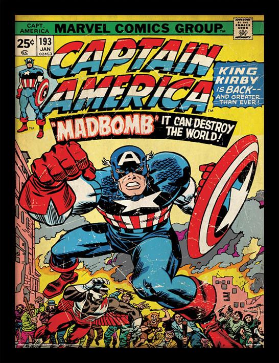 Zarámovaný plakát Captain America - Madbomb