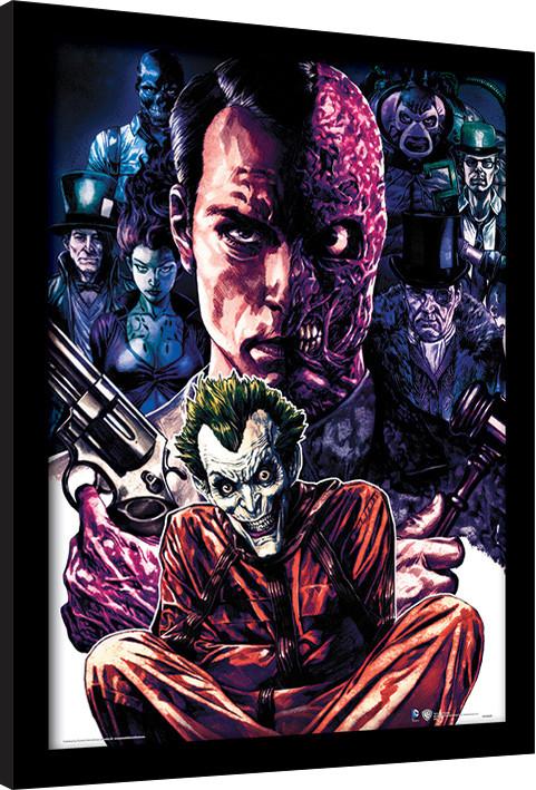 Zarámovaný plakát DC Comics - Criminally Insane