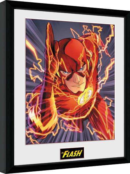 Zarámovaný plakát DC Comics - The FLash Justice League