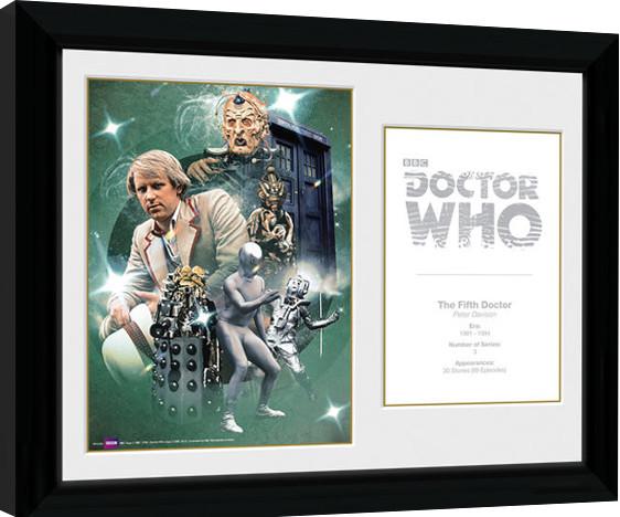 Zarámovaný plakát Doctor Who - 5th Doctor Peter Davison