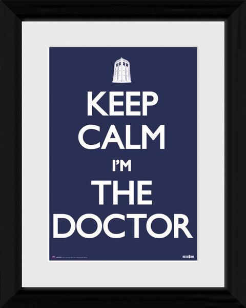 Zarámovaný plakát Doctor Who - Keep Calm