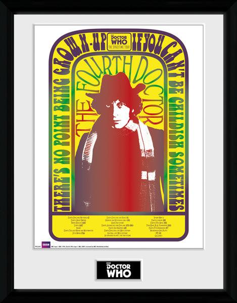 Zarámovaný plakát Doctor Who - Spacetime Tour 4th Doctor