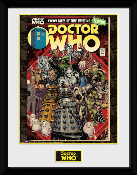 Zarámovaný plakát Doctor Who - Villains Comic