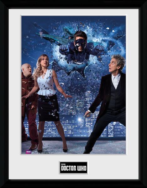 Zarámovaný plakát Doctor Who - Xmas Iconic 2016