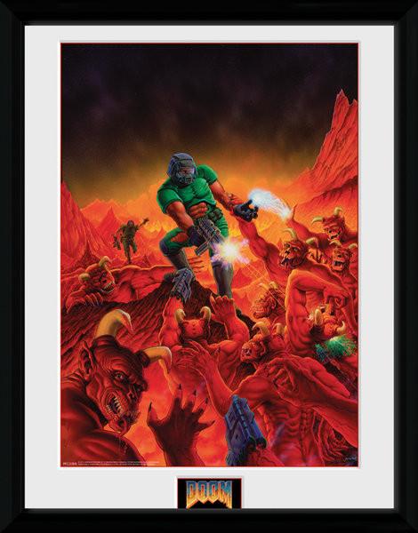 Oprawiony plakat Doom - Classic Key Art