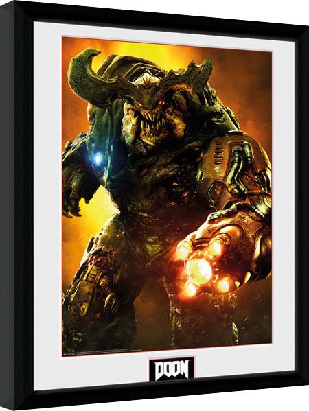 Zarámovaný plakát Doom - Cyber Demon