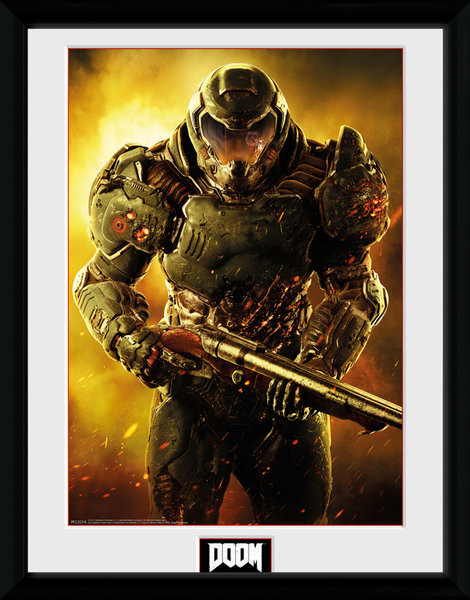Zarámovaný plakát Doom - Marine