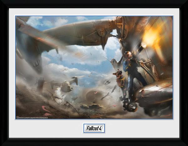 Zarámovaný plakát Fallout 4 - Virtibird Door Gunner