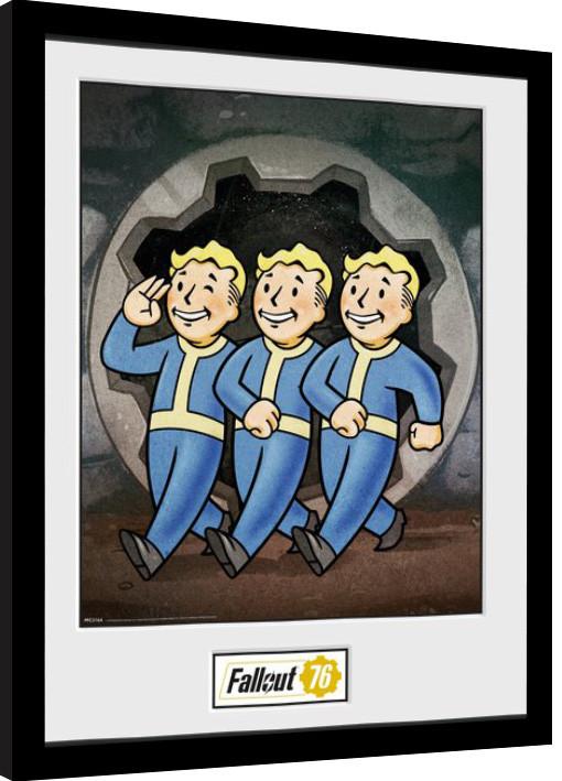 Zarámovaný plakát Fallout 76 - Vault Boys