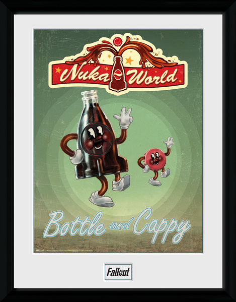 Oprawiony plakat Fallout - Bottle and Cappy