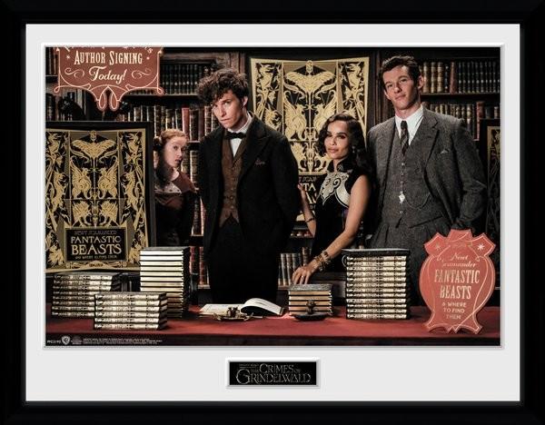 Zarámovaný plakát Fantastická zvířata: Grindelwaldovy zločiny - Book Signing