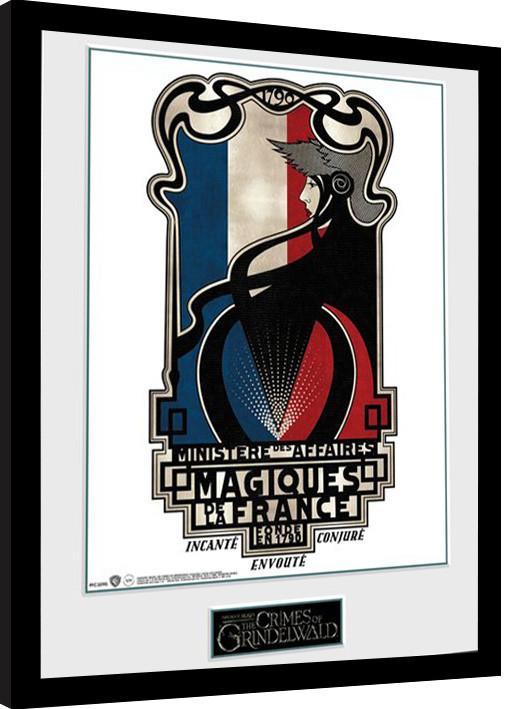 Zarámovaný plakát Fantastická zvířata: Grindelwaldovy zločiny - Magiques de la France