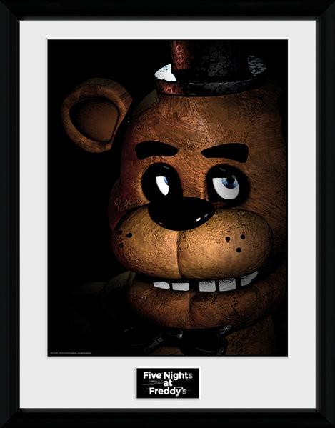 Zarámovaný plakát Five Nights at Freddys - Fazbear