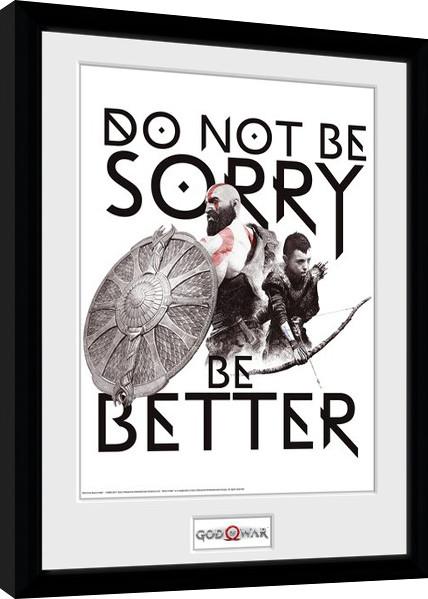 Zarámovaný plakát God Of War - Don't Be Sorry
