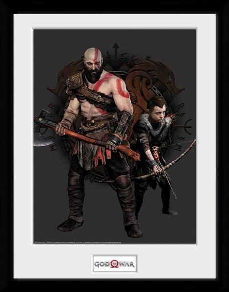 Zarámovaný plakát God Of War - Kratos and Atreus
