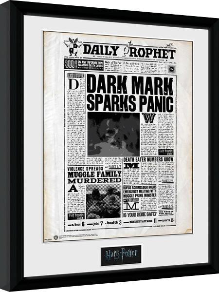 Zarámovaný plakát Harry Potter - Daily Prophet