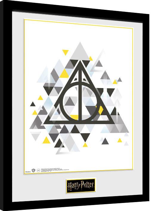 Zarámovaný plakát Harry Potter - Deathly Pixels