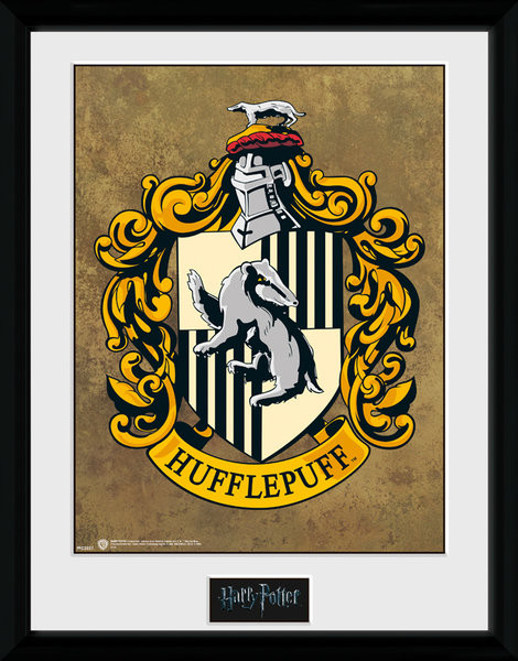 Oprawiony plakat Harry Potter - Hufflepuff