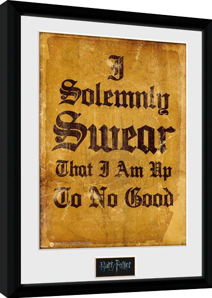 Zarámovaný plakát Harry Potter - I Solemnly Swear