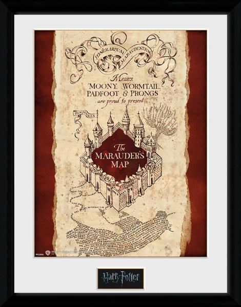Zarámovaný plakát Harry Potter - Marauder's Map