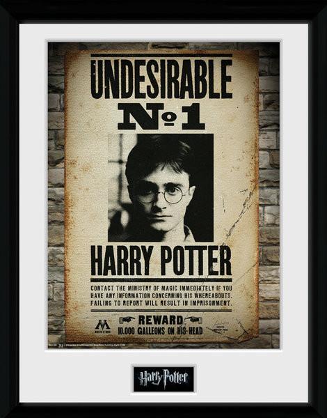 Zarámovaný plakát Harry Potter - Undesirable No 1