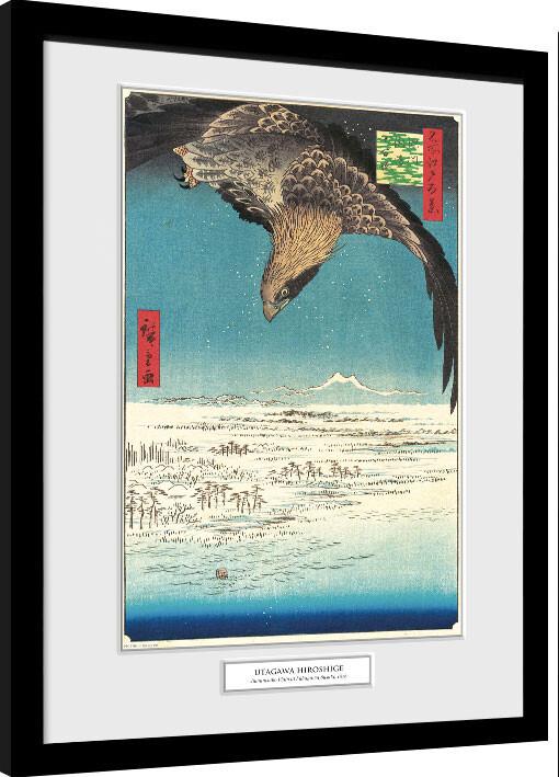 Zarámovaný plakát Hiroshige - Jumantsubo Plain at Fukagawa Susaki