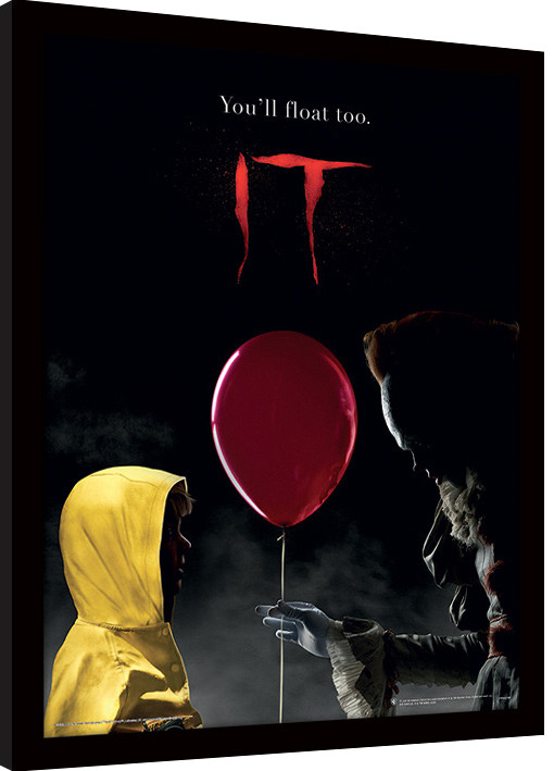 Zarámovaný plakát IT - Pennywise & Georgie
