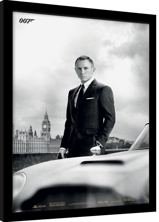 Zarámovaný plakát James Bond (Skyfall) - Bond & DB5