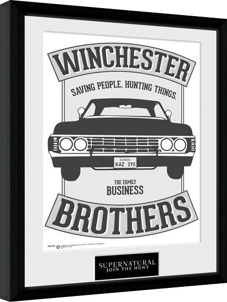 Zarámovaný plakát Lovci duchů - Winchester