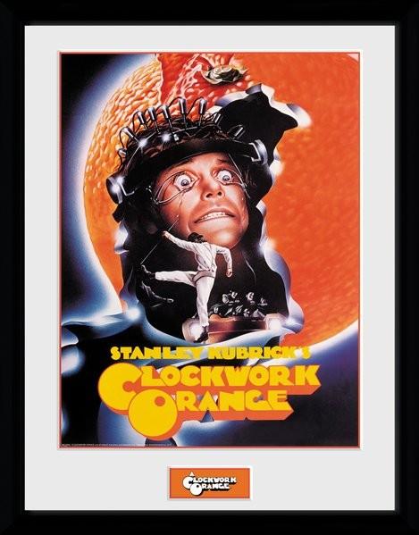 Zarámovaný plakát Mechanický Pomeranč - Key Art Orange
