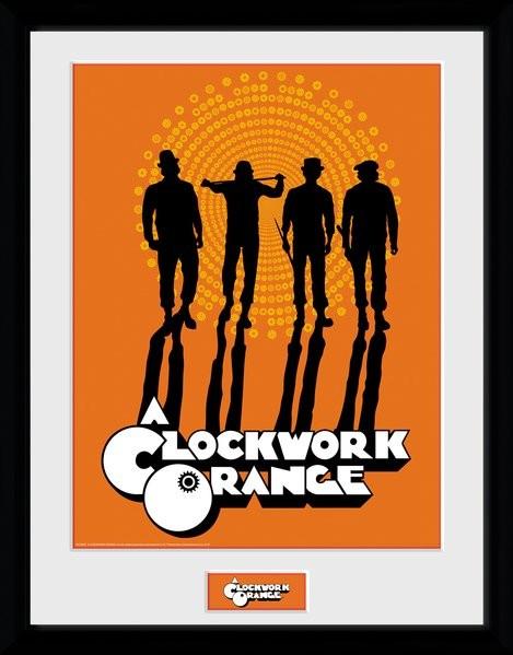 Zarámovaný plakát Mechanický Pomeranč - Silhouettes