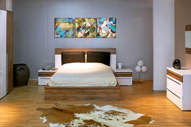Obraz Moderní design - barevní motýli