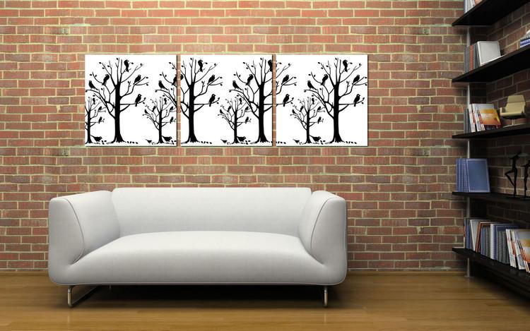 Obraz Moderní design – černé stromy