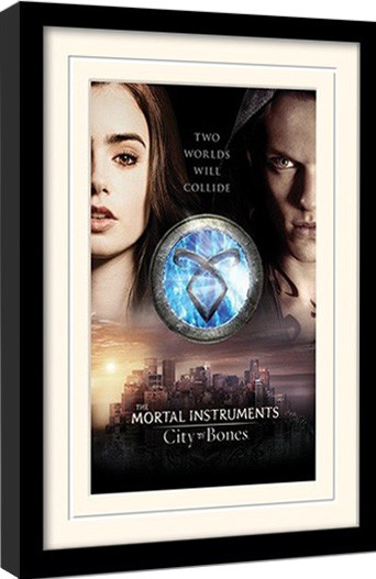 Zarámovaný plakát MORTAL INSTRUMENTS : MĚSTO Z KOSTÍ – two worlds