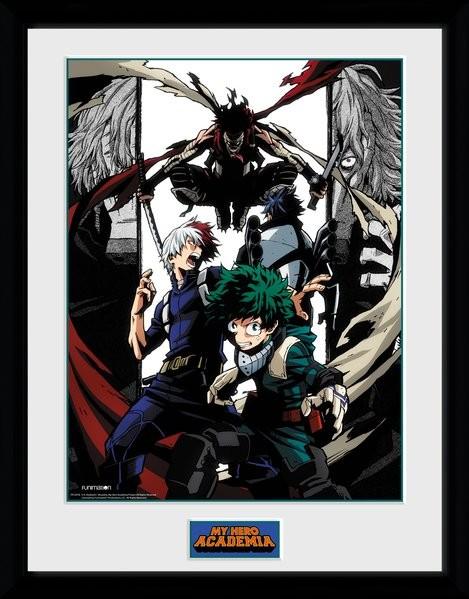 Zarámovaný plakát My Hero Academia - Heroes and Villains