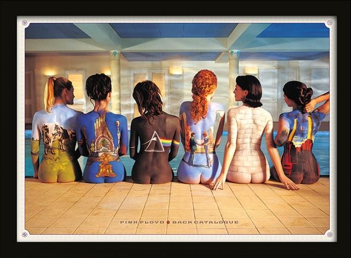 Oprawiony plakat Pink Floyd - Back Catalogue