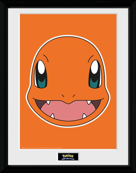 Zarámovaný plakát Pokemon - Charmander Face
