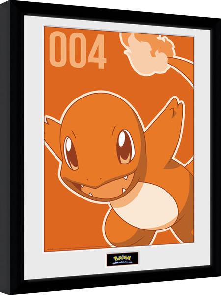 Zarámovaný plakát Pokemon - Charmander Mono