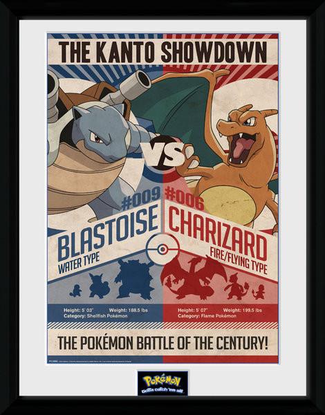 Zarámovaný plakát Pokemon - Red V Blue