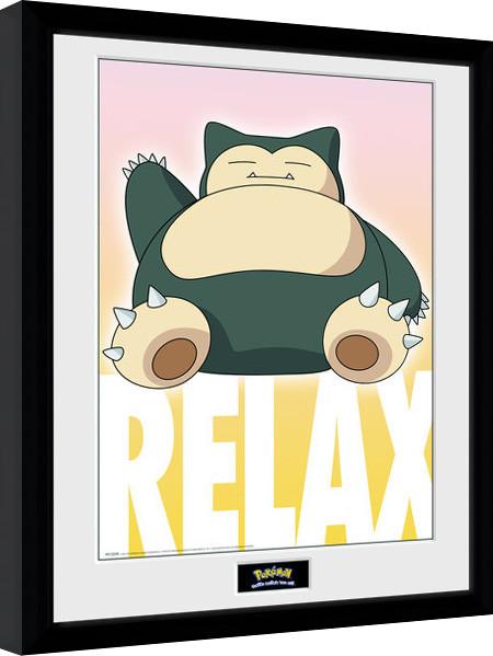 Zarámovaný plakát Pokemon - Snorlax