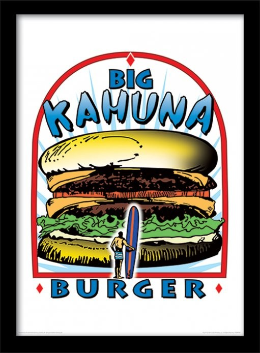 Oprawiony plakat PULP FICTION - big kahuna burger