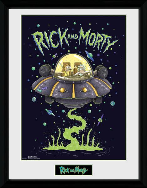 Zarámovaný plakát Rick and Morty - Ship