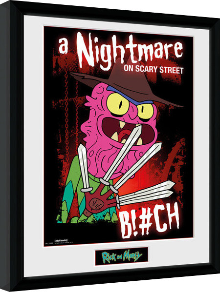 Zarámovaný plakát Rick & Morty - Scary Terry