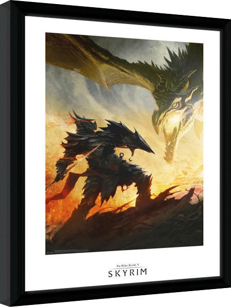 Zarámovaný plakát Skyrim - Daedric Armour