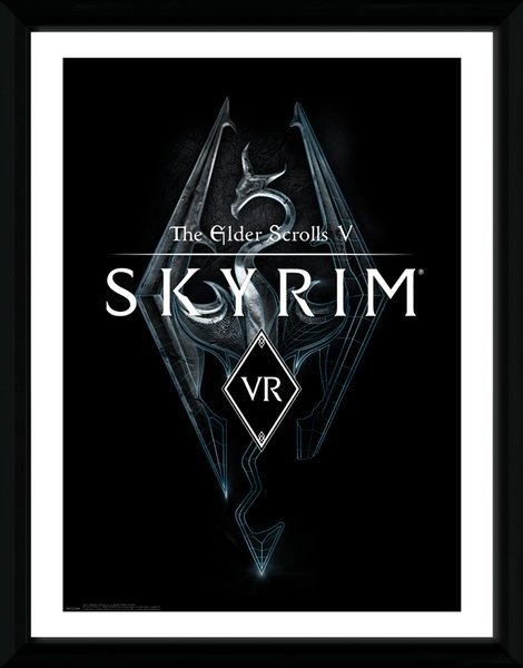 Zarámovaný plakát Skyrim - VR Game Cover