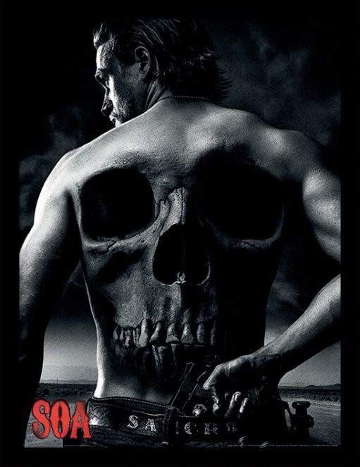 Zarámovaný plakát Sons of Anarchy (Zákon gangu) - Jax Back