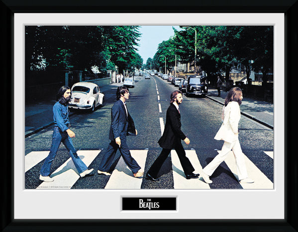 Zarámovaný plakát The Beatles - Abbey Road