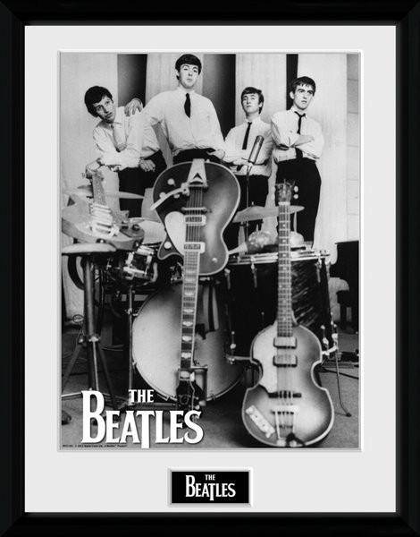 Zarámovaný plakát The Beatles - Instruments